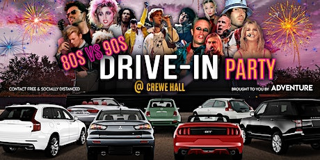 80s vs 90s Drive-In Party at Crewe Hall tickets