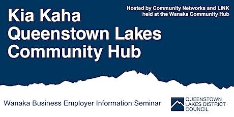 Wanaka Community Hub - Business Employer Information Seminar tickets