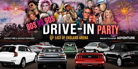 80s vs 90s Drive-In Party at East of England Arena in Peterborough tickets