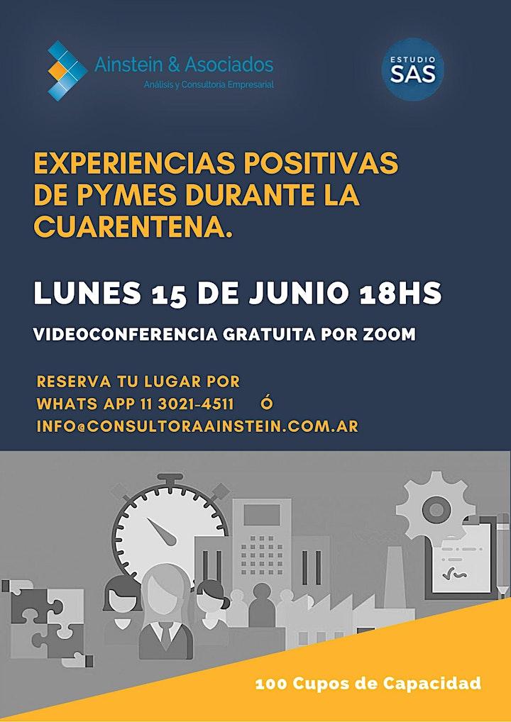 Imagen de EXPERIENCIAS POSITIVAS  PYMES DURANTE LA CUARENTENA. Videoconferencia ZOOM