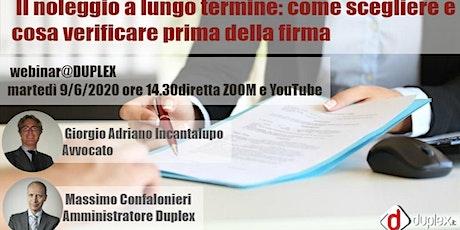 Webinar@DUPLEX-09/06: NOLEGGIO A LUNGO TERMINE - Come scegliere biglietti