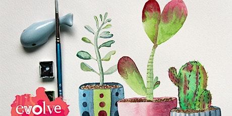 Evolve - Indoor Plants Watercolour Workshop tickets