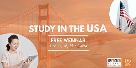 Study In The USA, FREE Webinar tickets