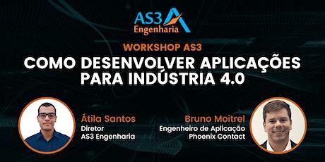 Workshop AS3: Como desenvolver aplicações para indústria 4.0 ingressos