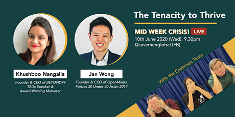 The Tenacity to Thrive (Live w Jan Wong & Khushboo) tickets