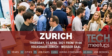 Zurich Tech Job Fair Spring 2021 by Techmeetups Tickets