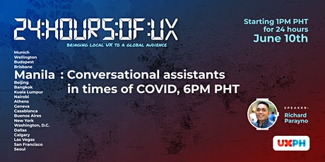 24 Hours of UX – Conversational assistants in times of COVID tickets