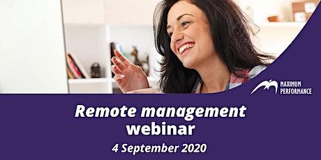 Remote management (4 September 2020) tickets