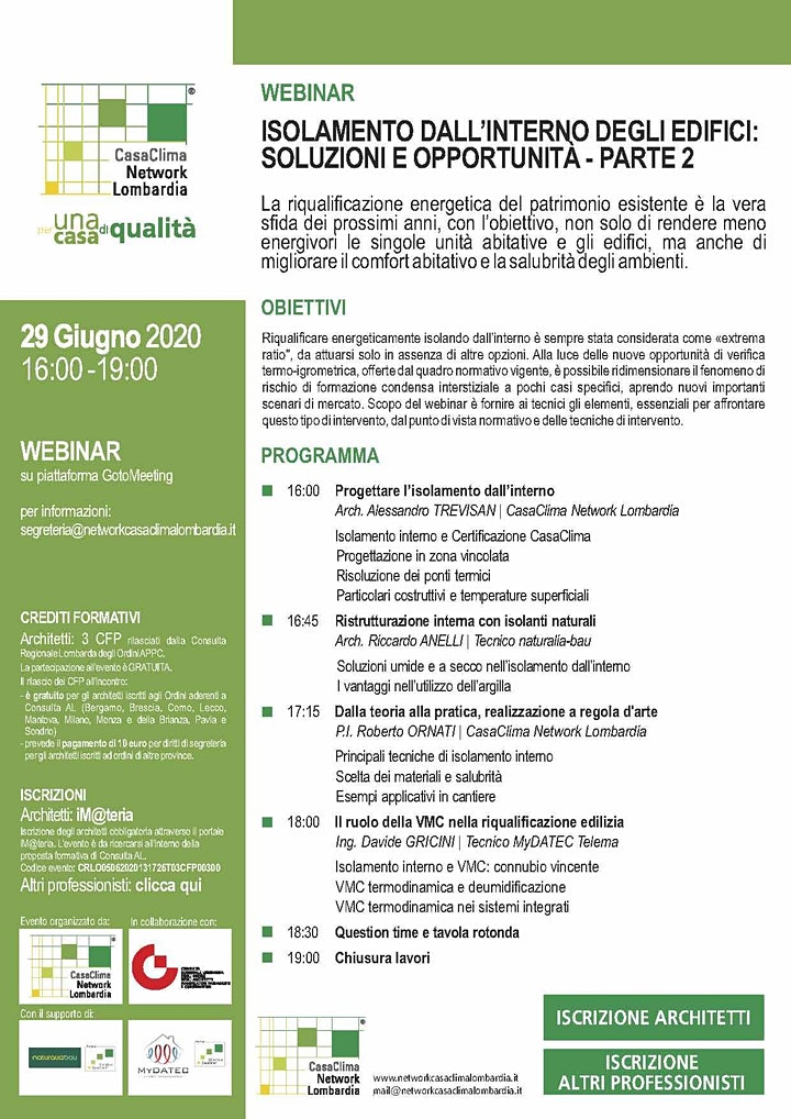 Immagine ISOLAMENTO DALL'INTERNO DEGLI EDIFICI: SOLUZIONI E OPPORTUNITA' - PARTE 2