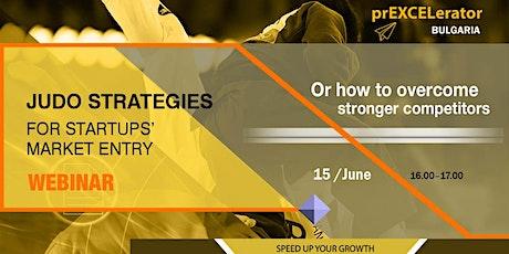 JUDO STRATEGIES for Startups' Market Entry boletos