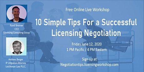 Ten Simple Tips to Successfully Negotiate a Licensing Deal tickets