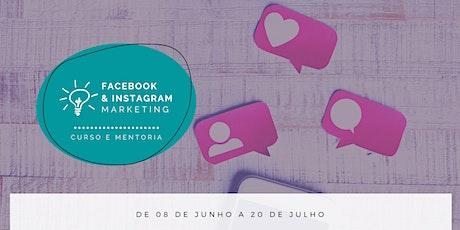 Facebook e Instagram Marketing na prática Portugal bilhetes