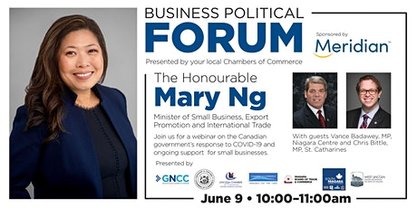 Business Political Forum Featuring The Honourable Mary Ng tickets