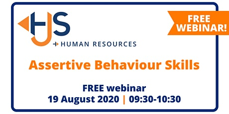 "FREE HR Webinar ""Assertive Behaviour Skills"" by HJS Human Resources tickets"