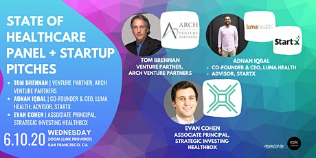 State of Healthcare Panel + Startup Pitches (On Zoom) tickets