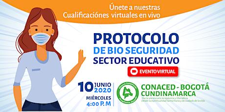 Cualificación VIRTUAL sobre Protocolo de Bio Seguridad Sector Educativo entradas