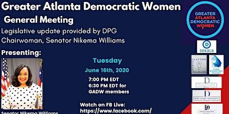 GADW Presents Senator Nikema Williams, Chair, Democratic Party of GA tickets