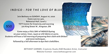 INDIGO - For the Love of Blue - a hand dyeing workshop for all levels tickets