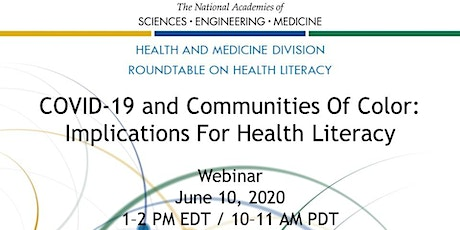 COVID-19 and Communities of Color: Implications for Health Literacy tickets