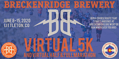 Virtual 5k, Half & Marathon | Breckenridge Brewery | CO Brewery Running biglietti