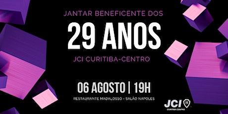 Jantar Beneficente dos 29 anos da JCI Curitiba-Centro ingressos