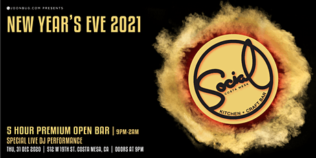 Social Costa Mesa New Years Eve Party 2021 tickets