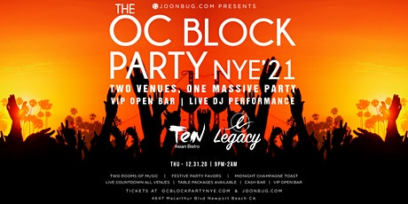 Orange County New Years Eve Block Party 2021 tickets