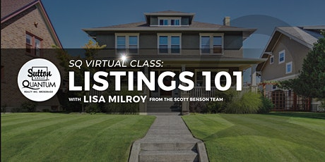 Virtual Class: Listings 101 with Lisa Milroy tickets