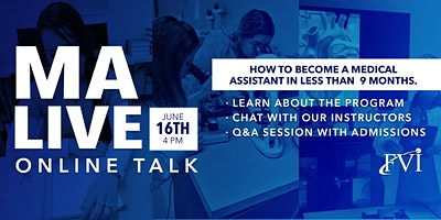 MA Live Online Talk: How to become a certified Medical Assistant