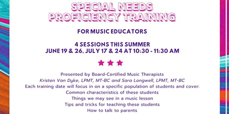 Special Needs Proficiency Training for Music Educators tickets