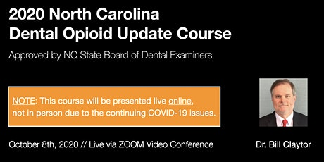 10/8/20 NC Dental Opioid Update Course [ONLINE] tickets