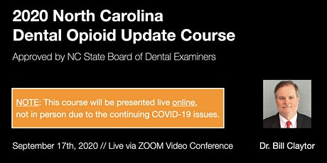 9/17/20 NC Dental Opioid Update Course [ONLINE] tickets