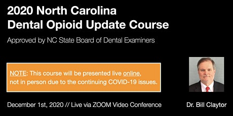 12/1/20 NC Dental Opioid Update Course [ONLINE] tickets