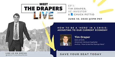 MTD LIVE | 'How to be a HERO in a CRISIS' | ft. Tim Draper & Chuck Pettid tickets