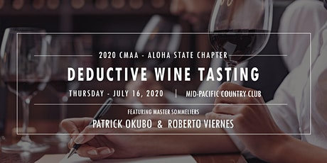 CMAA - Deductive Wine Tasting tickets