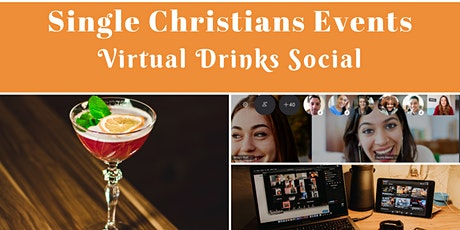 Single Christians Events: Virtual Drinks Social, Online tickets