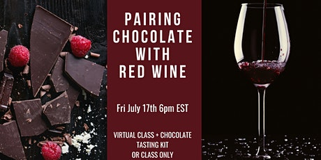 Virtual Pairing Chocolate with Red Wine tickets