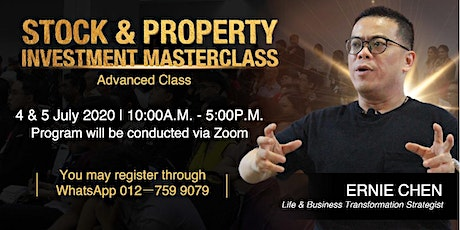 STOCK & PROPERTY INVESTMENT MASTERCLASS - Advanced Class tickets