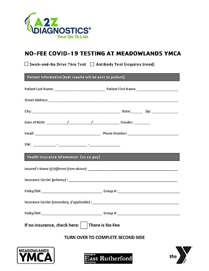 NO-FEE COVID19 SWAB & GO DRIVE-THRU TEST | OPEN TO ALL image