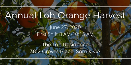 Annual Loh Orange Harvest (First Shift from 8am to 10:15am) tickets