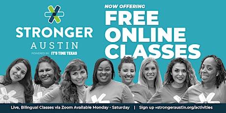 Stronger Austin Virtual Zumba (Mondays) tickets