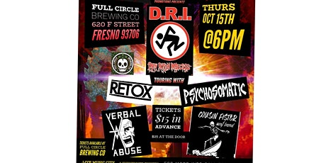 DRI w/Retox, Psychosomatic, Verbal Abuse & Cousin Fister Surf Band tickets
