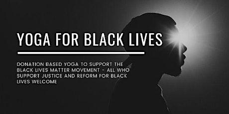 Yoga for Black Lives Matter billets