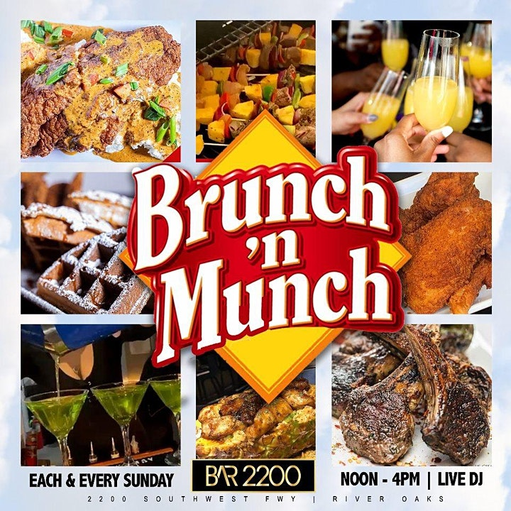 BRUNCH N MUNCH SUNDAYS AT BAR 2200 image