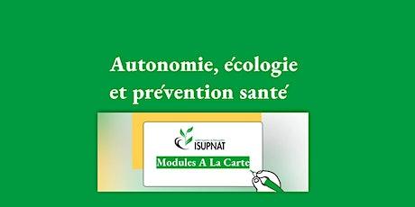 Autonomie, écologie et prévention santé- Module de formation à la carte billets