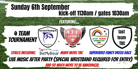 BIG CHARITY PARTY BASH - 4 team tournament and much more... tickets