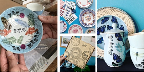 Vintage China Upcycling ONLINE  Workshop LIVE tickets