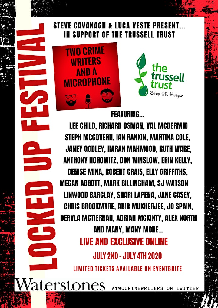 Two Crime Writers and a Microphone - The Locked Up Festival image