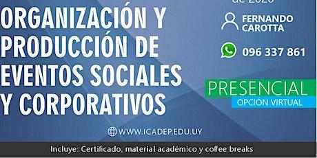 Taller: Organización y producción de eventos sociales y corporativos entradas