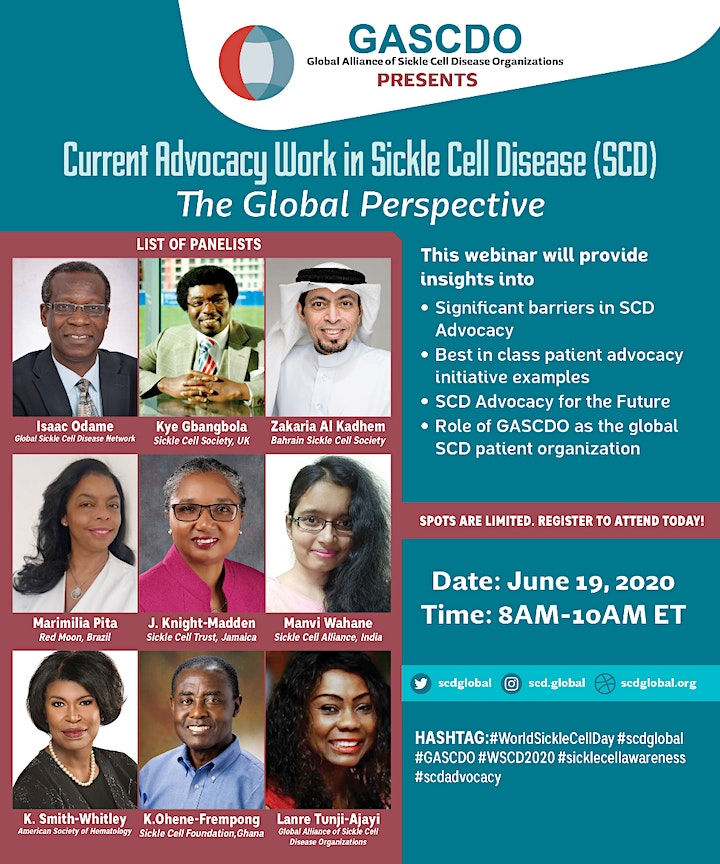 Current Advocacy Work in Sickle Cell Disease: The Global Perspective image